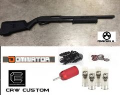 CRW DOMINATOR DM870 Shotgun Magpul use APS shell+ Extension Blocker Removed + Modified Rear Pin